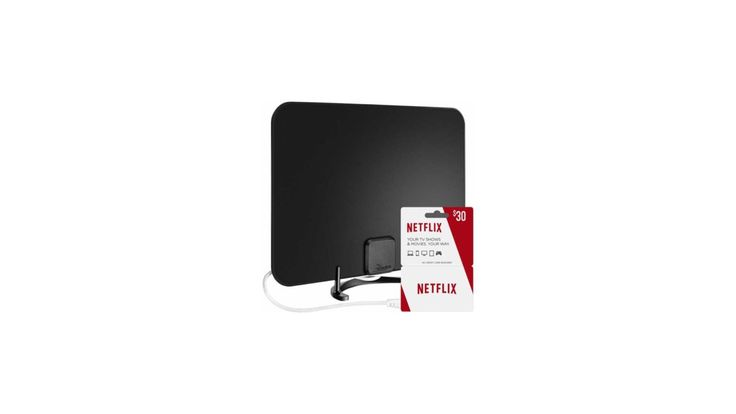 Rocketfish Ultra Thin HDTV Antenna and Netflix $30 Gift Card for $49.99 at Best Buy