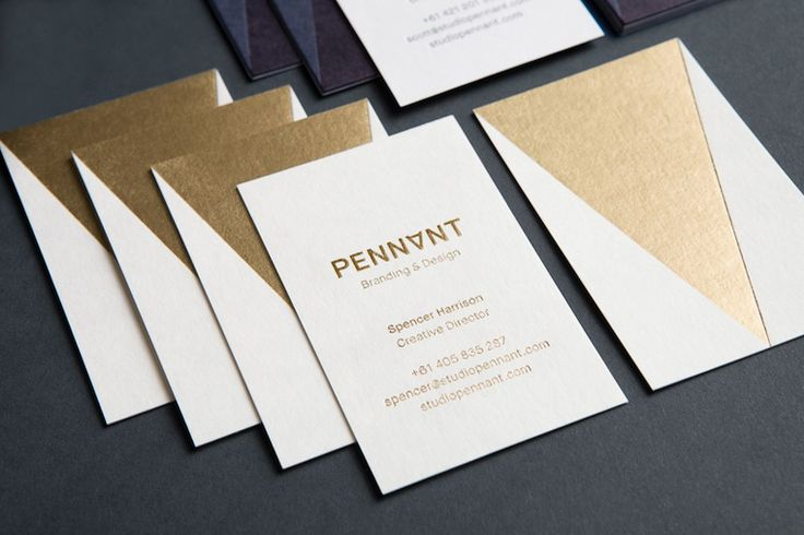 Gold Foiled Business cards