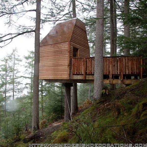 Graceful Wooden Treehouse Design #treehouse #natural
