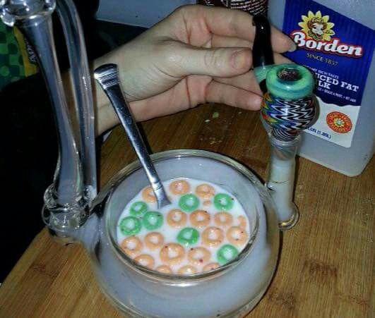 Cereal bowl for stoners. Wake & Bake. Weed & wheaties. Mary Jane