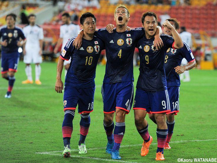 Shinji Kagawa #10 Keisuke Honda #4 Shinji Okazaki #9 Japan National Team Asian Cup Australia 2015