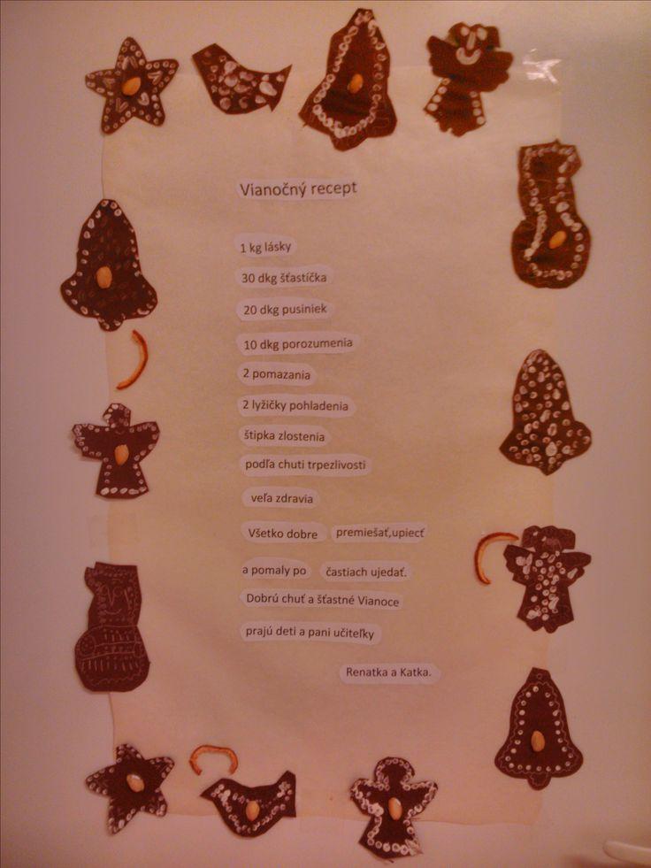 vianočný recept