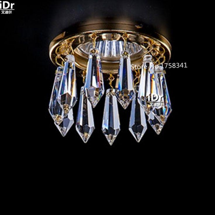 Modern Sanat decration kristal avize oturma odası aydınlatma Dia8xH5.5cm kristal koridor işık mini LED lambaları(China (Mainland))