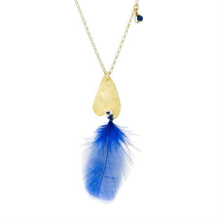 http://www.miahera.com/tuylu-mavi-tasarim-kolye Pavus Aqua #mavi #tüy #kolye #tasarım #takı #jewelry #design #neckless #blue #feather