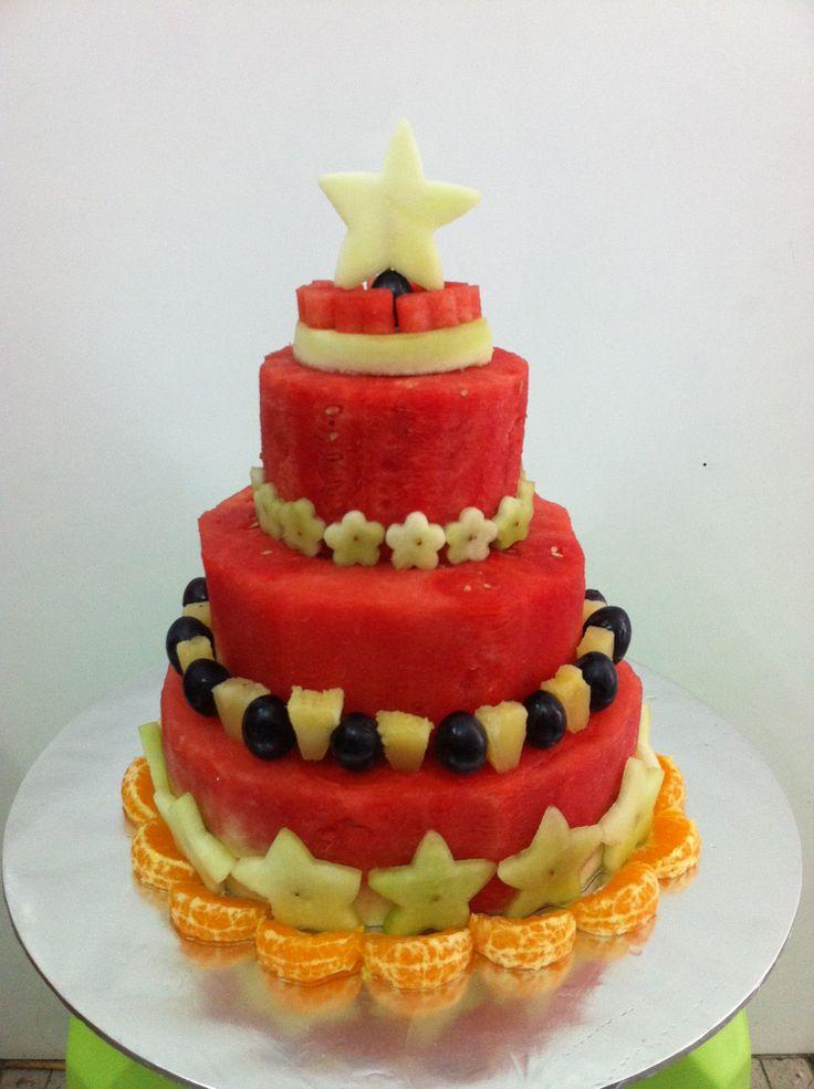 how to make fresh fruit birthday cake