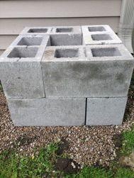 rain barrel stand with concrete blocks - Google Search