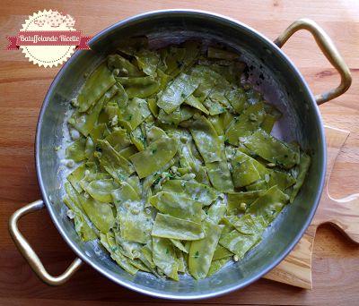 Batuffolando Ricette: Taccole (di piselli) cremose