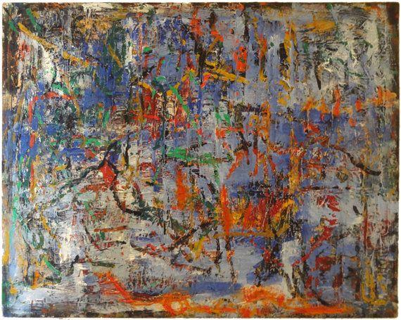Rune Art Painting: Becker Beste No. 127, abstract expressionist art, colorist painting, Earth art, acrylic painting, Berlin art, art decor