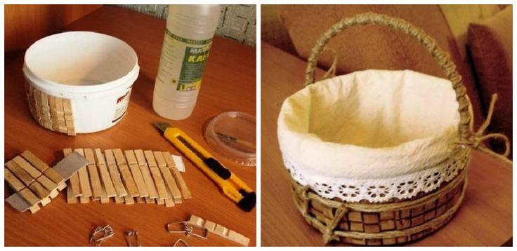 Confectioneaza si tu obiecte decorative din carlige de rufe – 2 proiecte DIY Afla din acest articol cum poti realiza obiecte decorative din carlige de rufe. 2 proiecte frumoase pentru timpul tau liber http://ideipentrucasa.ro/confectioneaza-si-tu-obiecte-decorative-din-carlige-de-rufe-2-proiecte-diy/