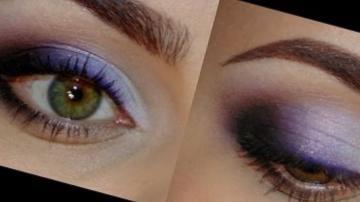 Яркий фиолетовый макияж для выпускного/на вечер