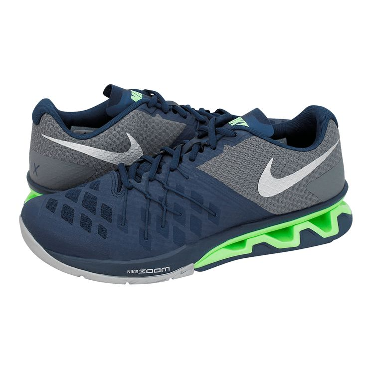 Real Lightspeed II - Ανδρικά αθλητικά παπούτσια Nike από υφασμα και συνθετικο με υφασμάτινη φόδρα και συνθετική σόλα. Διατίθεται σε χρώμα Μπλε Navy-Γκρι.