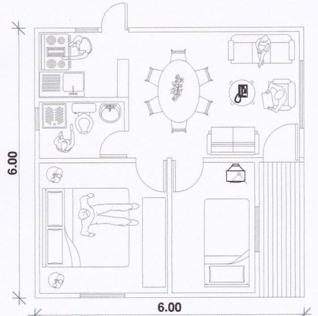 M s de 25 ideas incre bles sobre planos de casas peque as for Decoracion de casas de 36 metros cuadrados