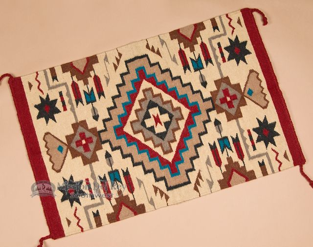 Woven Southwestern Tapestry Rug 24x36 (2436826) - Mission Del Rey Southwest