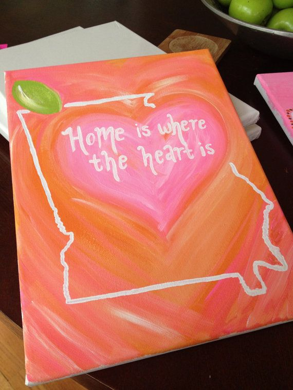 """Georgia """"Home Is Where The Heart Is"""" Canvas"""