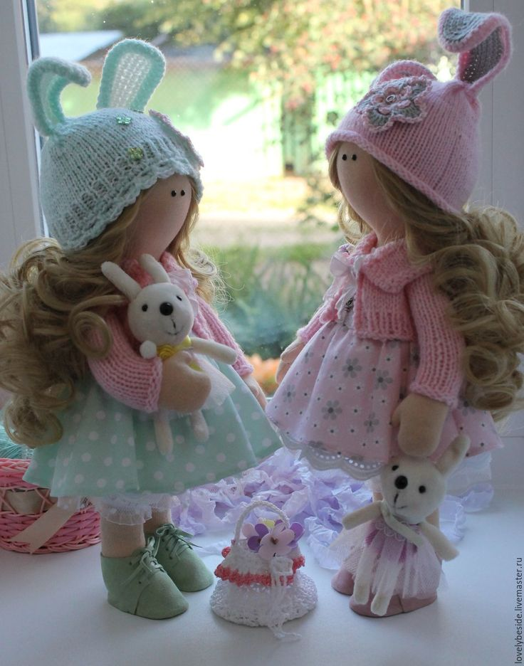 Купить Как здорово быть сестричками! - бледно-розовый, нежно-розовый, кукла…