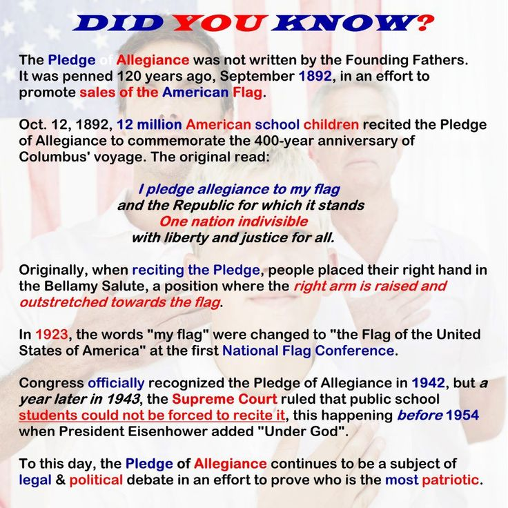 an analysis of the historical meaning of the pledge of allegiance