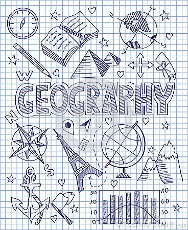 Hand drawn Geography set