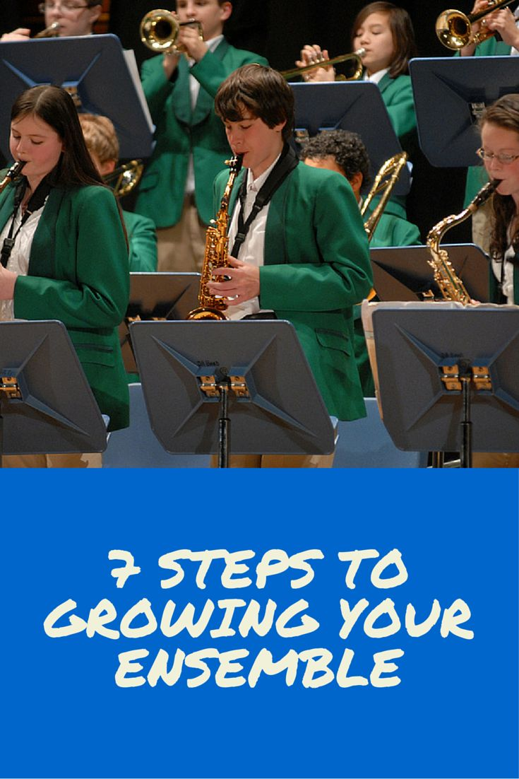Tips and ideas for every music educator on how to grow ensembles.