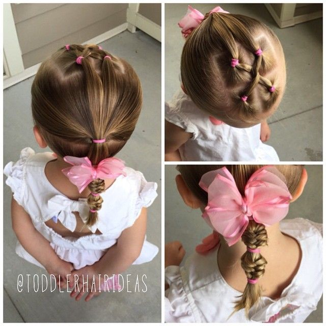 """177 Likes, 8 Comments - Cami Toddler Hair Ideas (@toddlerhairideas) on Instagram: """"Today I did a twist on top, then pulled the hair into a 2 layer pony, I finished it off with a…"""""""