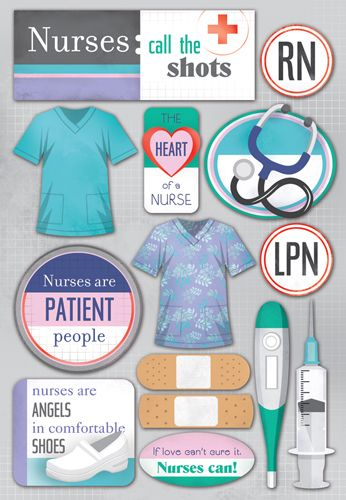 Karen Foster Design - Nurse Collection - Cardstock Stickers - Nurses at Scrapbook.com $2.19