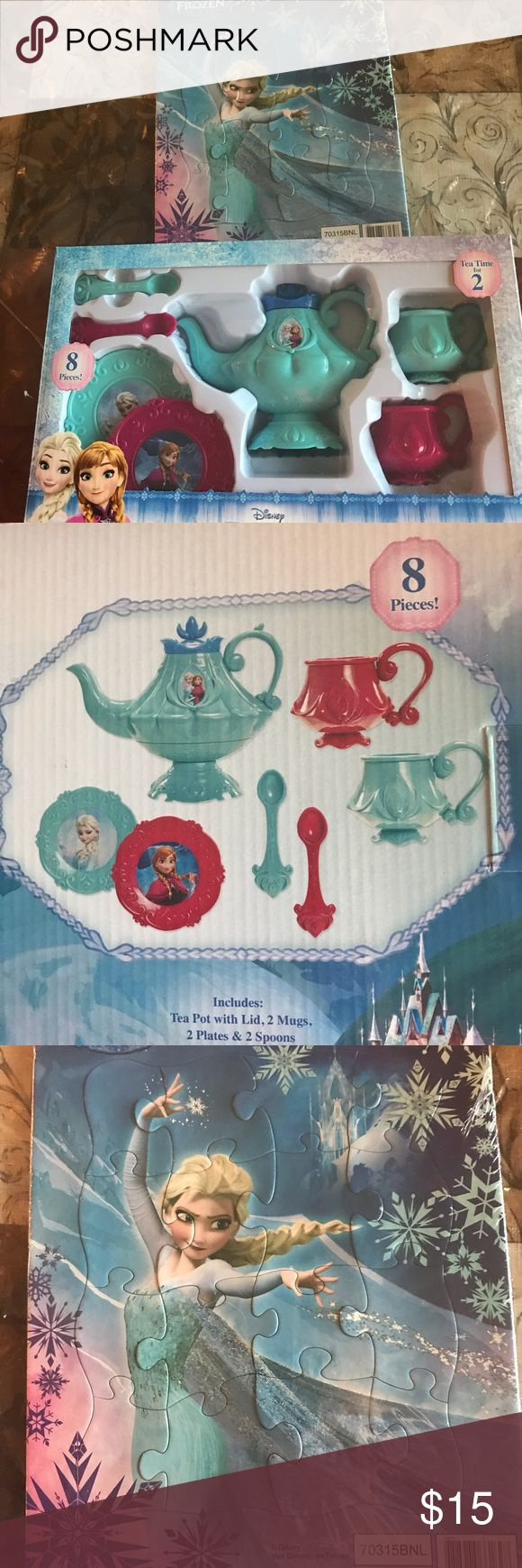❤️Frozen Bundle Toys❤️ New tea set and puzzle. Thanks and blessings :D Make a bundle and save! All seriuos offers will be acepted! Other