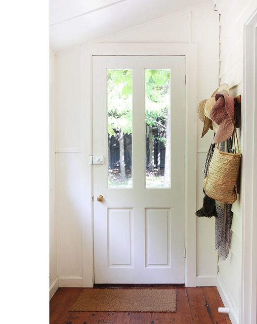 The Doors, Entrance Decor, Kitchens Design, Mud Room, Front Doors, Design Files, Front Entry, Kitchens Doors, White Wall