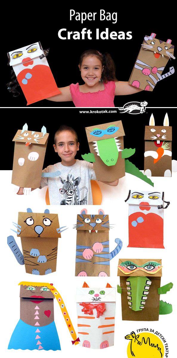 Nosso Espaço da Educação: Animais feitos com saco de papel