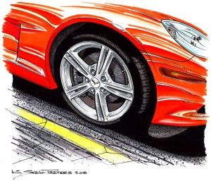 A Historic Look Back at the Wheels that Vettes Ride On! Article and art by K. Scott Teeters. http://www.corvettereport.com/corvette-wheels-pt-3-of-3-1997-to-2009/