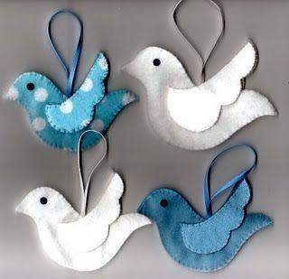 felt doves