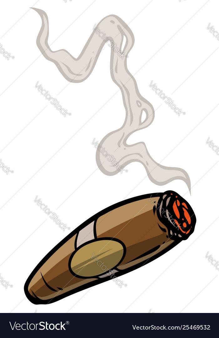 Cartoon Lit Cigar With Smoke Royalty Free Vector Image Affiliate Cigar Smoke Cartoon Lit Ad Cartoon Smoke Vector Free Samurai Helmet