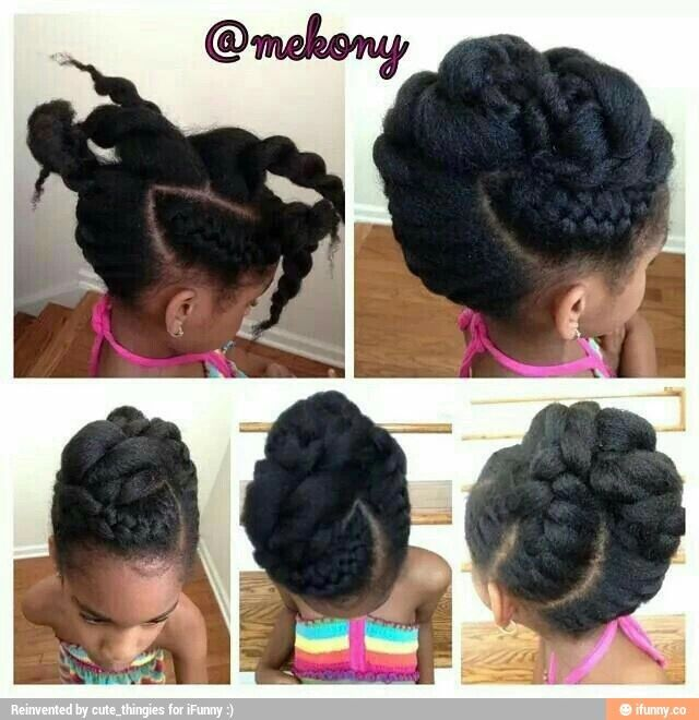 An adorable updo ( may not be for shorter haired women)