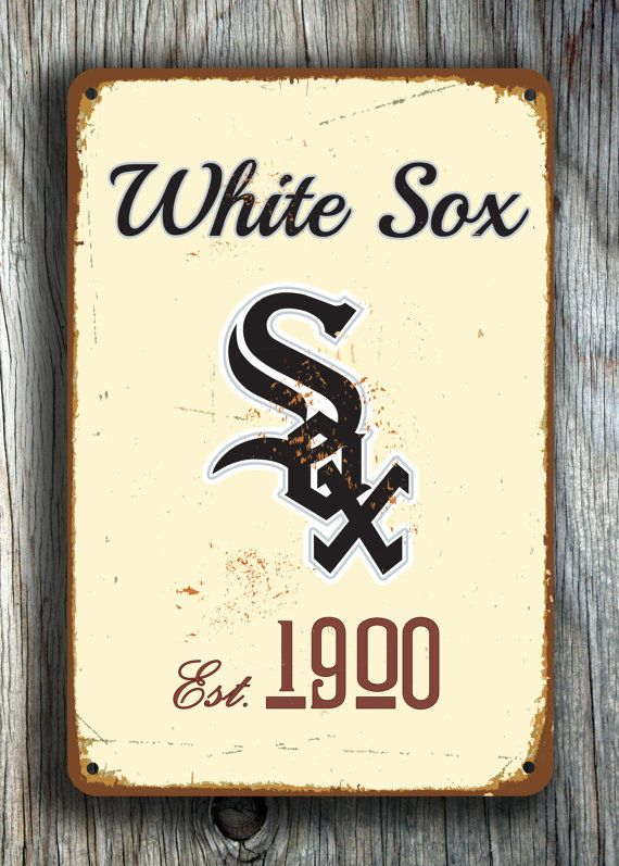 Vintage style New Chicago WHITE SOX Sign Chicago by FanZoneSigns