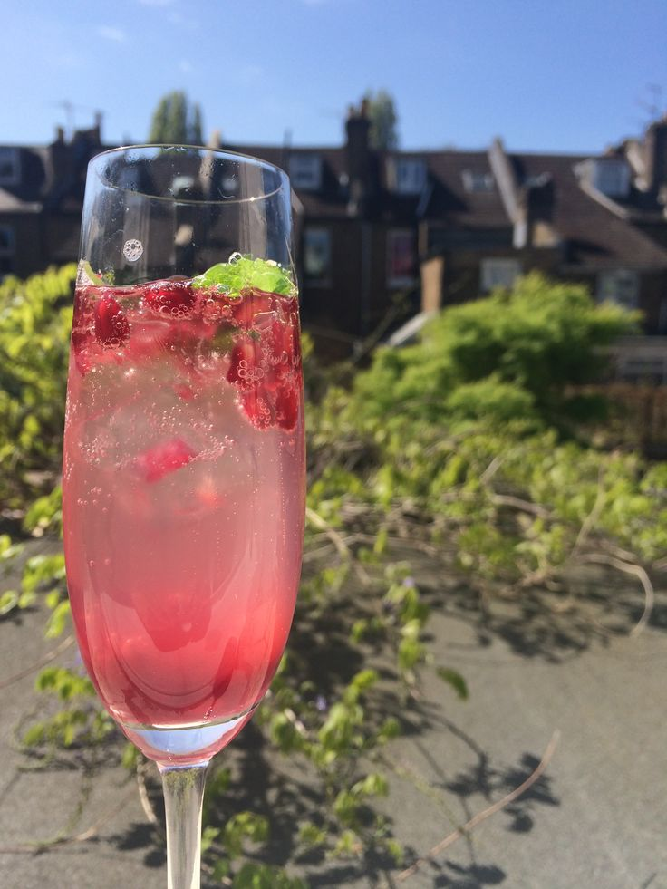 Smashed mint and pomegranate prosecco cocktail! www.theparttimevegan.me