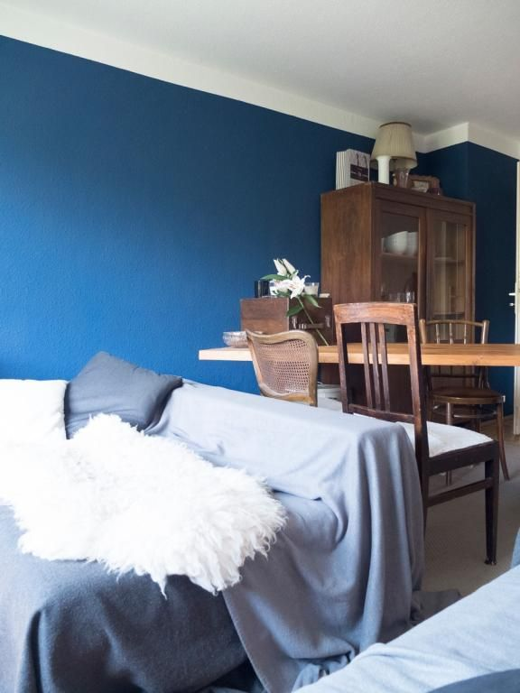 die besten 25+ dunkelblaue wände ideen auf pinterest | marine ... - Wohnzimmer Mit Blau
