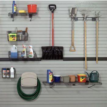 Garage Organization - HandiWall™ Slat Wall System White Finish By Garage Solutions | KitchenSource.com  #kitchensource #pinterest #followerfind