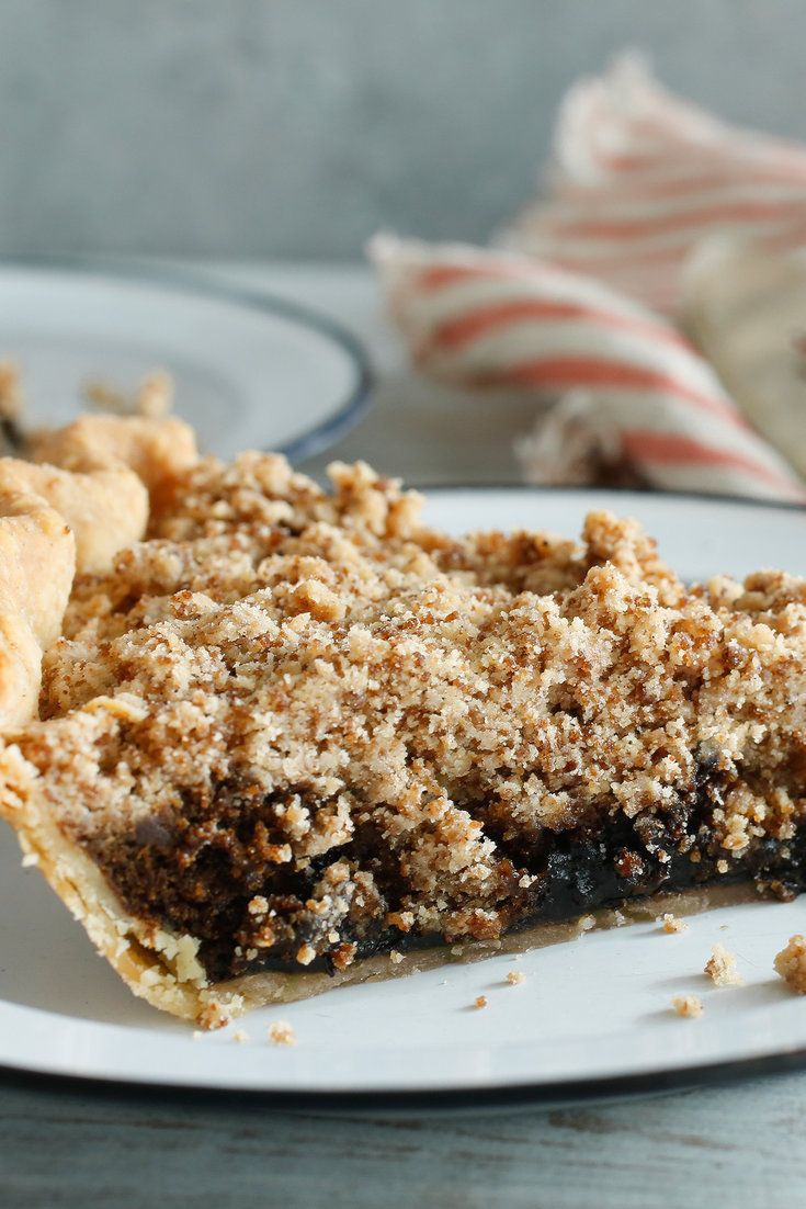 """Shoofly pie is often thought of as the cake baked in a pie shell, or so wrote Jean Hewitt, The New York Times food writer who offered this recipe in the paper in 1965 This pie was served at a Pennsylvania Dutch luncheon hosted by the International Cuisine Group of the College Woman's Club of Westfield, N.J., in the spring of that year One of the organizers dug up the recipe from her mother's """"Housekeeper's Scrap Book, 1896.""""... #Pie #Shoofly"""