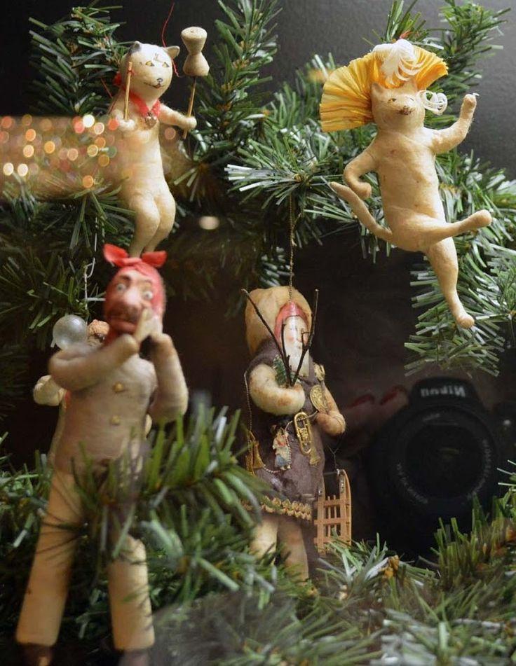 134 best Spun Cotton Christmas Ornaments images on Pinterest ...