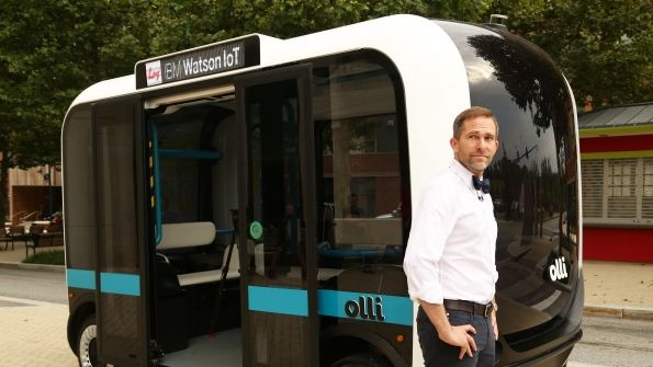 Local Motors, best known for its 3-D printed cars, is planning to give free public rides in its autonomous bus, Olli, toward the end of the summer.