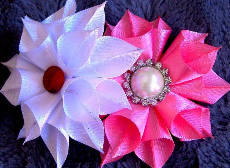 Flor de Fitas de Cetim Passo a Passo -satin ribbon rose ,Rose Tutorial, DIY
