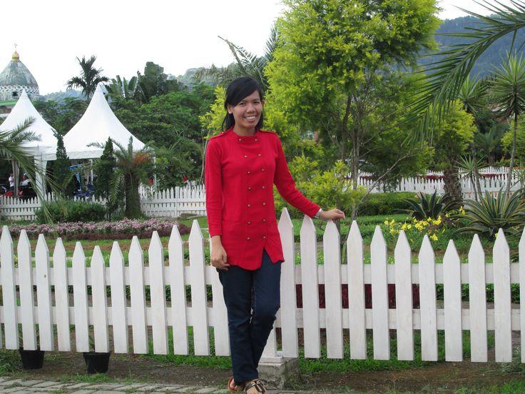 #Red #Jeans #Rajutan