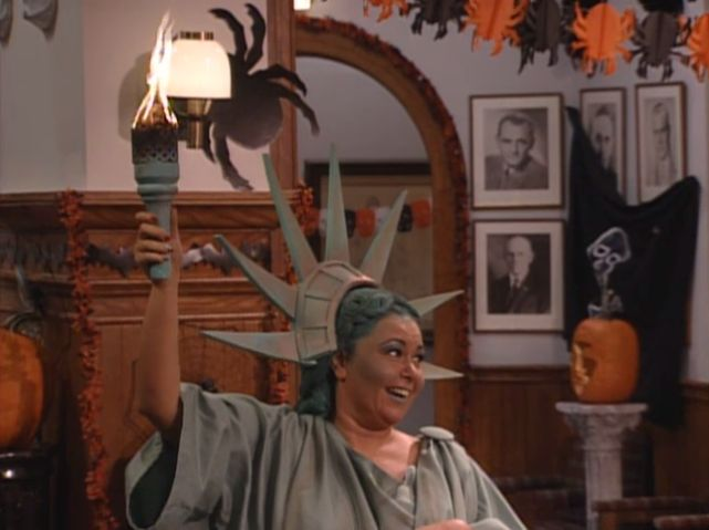 Roseanne dressed up as lady liberty! The Statue of Liberty is just ...