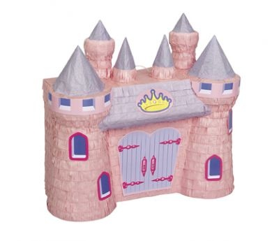 Fairy tale pink castle piñata, features purple turrets and a gold crown as an accent piñata is perfect for a princess theme birthday party: Princess Castle, Princess, Castle Pinata, Castles, Pink Princess, Princess Party, Party Ideas, Birthday Party