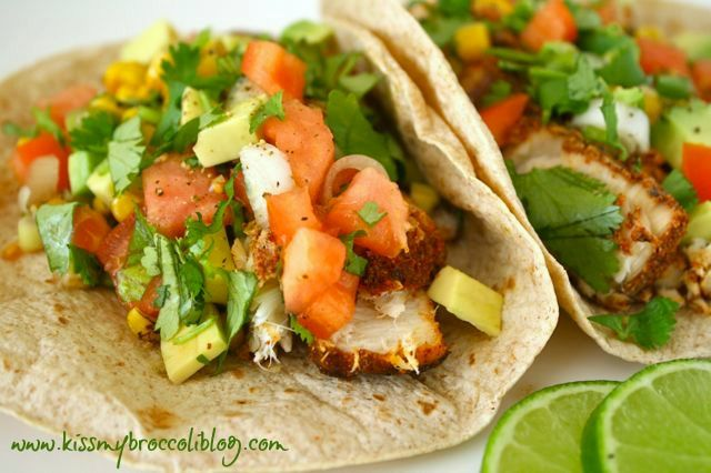 Chili Lime Swordfish Tacos- would be great with mango salsa... And made with the only fish my guy loves, huge plus!