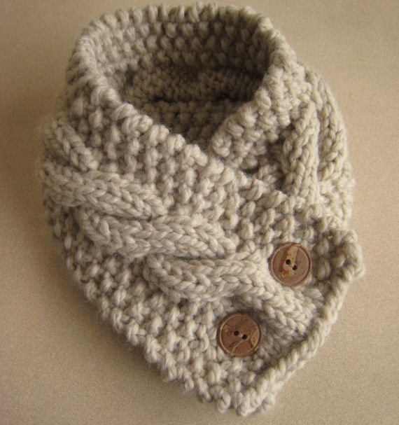 Oatmeal neck warmer by HomeMadeOriginals on Etsy