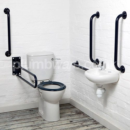 Document M compliant toilet pack (Close-Coupled option) with WRAS approved flush and fittings.