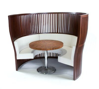 High Back Banquette Wood Frame With Tight Upholstered Seat