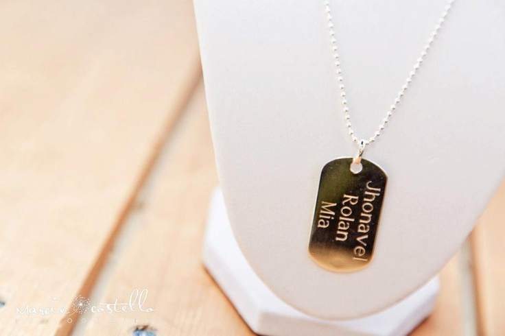 Family Name Necklace~ Hand Stamped Sterling Silver