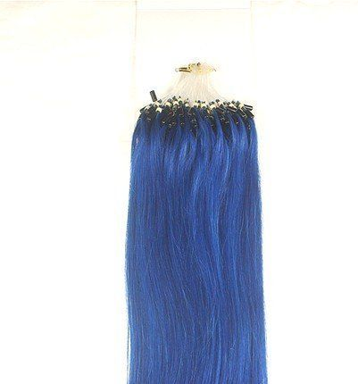 100 Strands 20 Remy Micro Bead Loop 50 Grams Blue 100% Human Hair Extensions by MyLuxury1st. $79.50. SHIPS IN 6-10 BUSINESS DAYS! IF YOU CAN NOT WAIT; DO NOT ORDER; QUESTIONS? CONTACT MYLUXURY1ST HAIR EXTENSIONS ```There is a string at the top in the loop and a micro ring already attached. All you have to do is put your hair through the loop and pull at the string. It automatically pulls the hair through the micro ring. And then, just squeeze the ring . It is d...