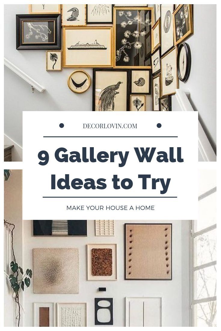 Stunning Gallery Wall Ideas To Try Home decor Pinterest Home