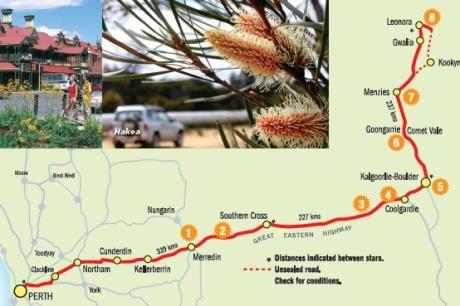 Goldfields wildflower trail map